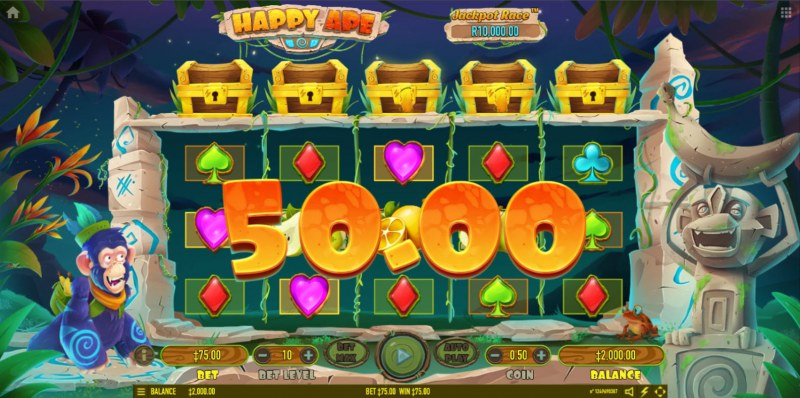 Happy Ape :: Free Spins Game Board