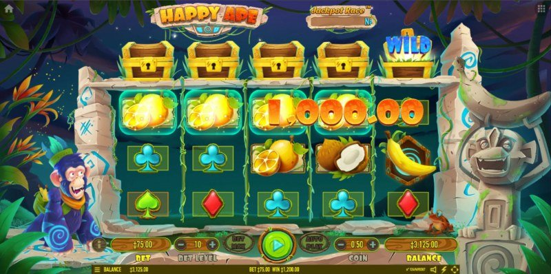 Happy Ape :: A four of a kind win