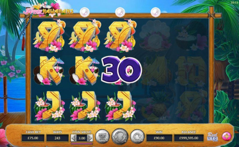Happy Hawaiians :: Reel Clones trigger multiple winning paylines