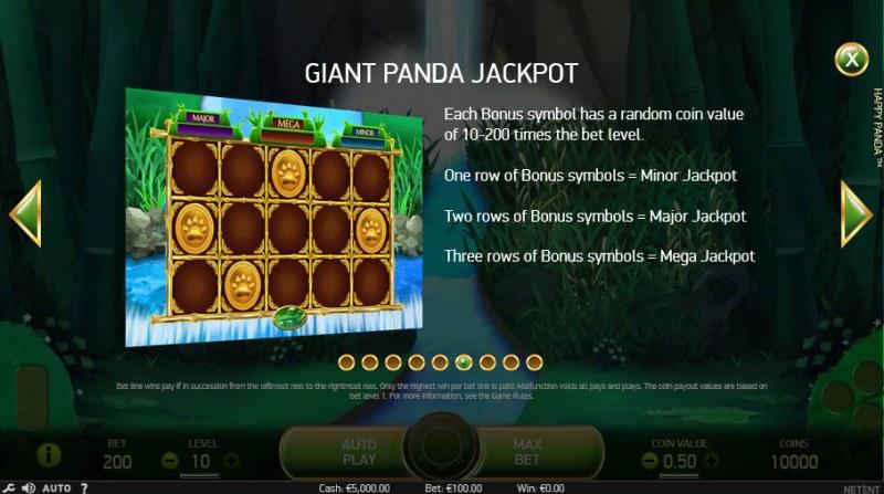 Happy Panda :: Giant Panda Jackpot