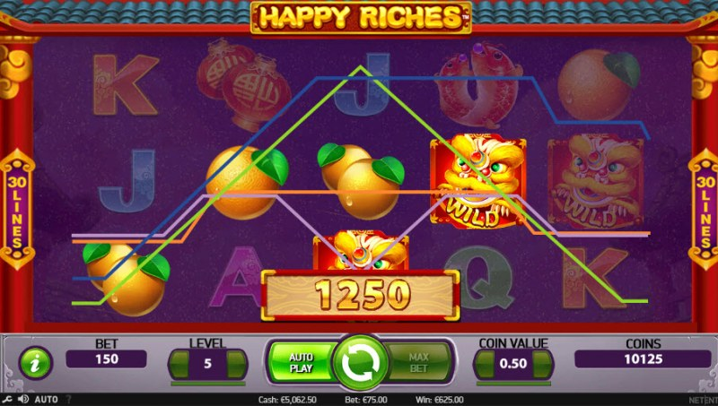 Happy Riches :: Multiple winning paylines