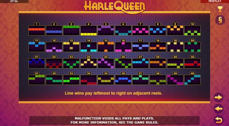HarleQueen :: Paylines 1-40