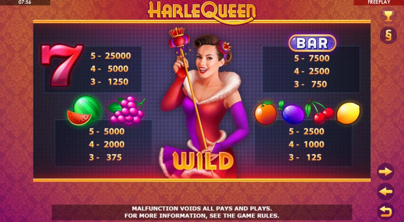 HarleQueen :: Paytable