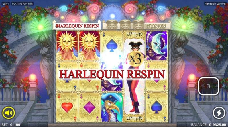 Harlequin Carnival :: Respin triggered