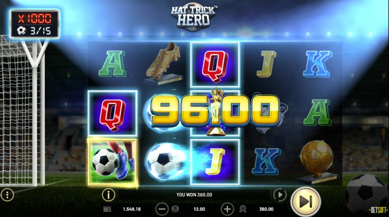 Hat Trick Hero :: A three of a kind win