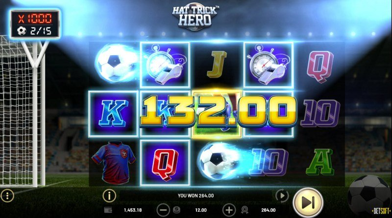 Hat Trick Hero :: Multiple winning paylines