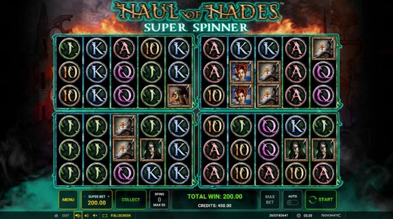 Haul of Hades Super Spinner :: Super Spinner Bonus Gameboard