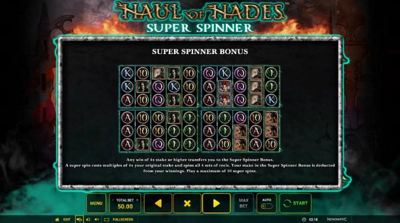 Haul of Hades Super Spinner :: Super Spinner Bonus