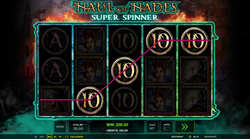 Haul of Hades Super Spinner :: Game pays in both directions