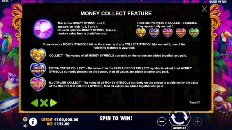 Heart of Rio :: Money Collection Feature