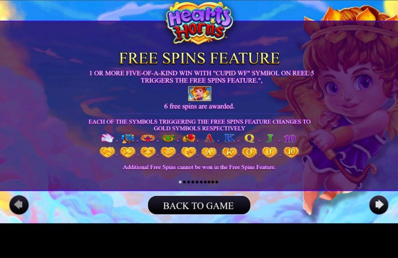 Hearts & Horns :: Free Spin Feature Rules