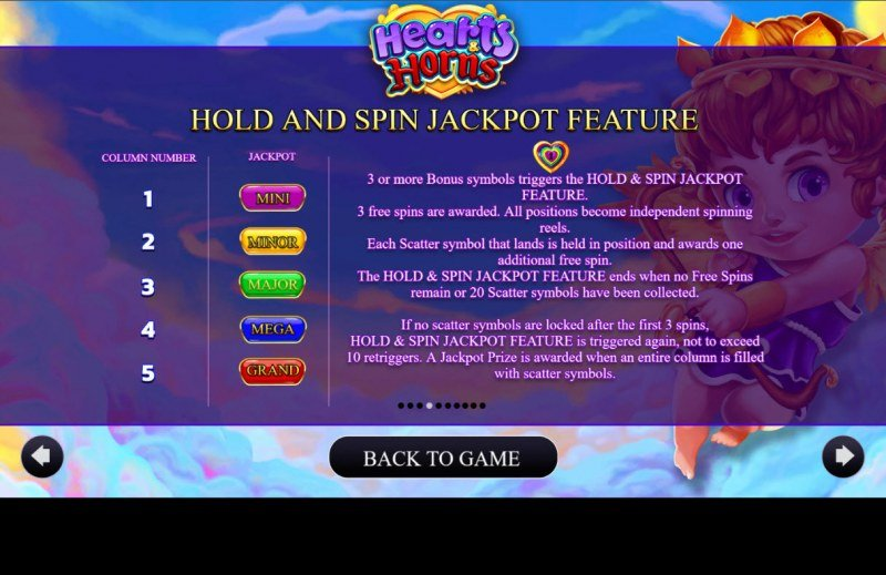 Hearts & Horns :: Hold and Spin Jackpot Feature