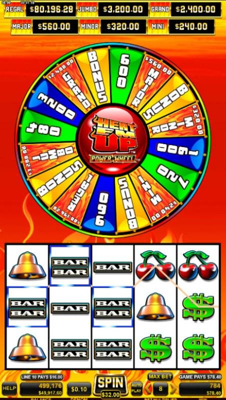 Heat 'Em Up Power Wheel :: Multiple winning combinations