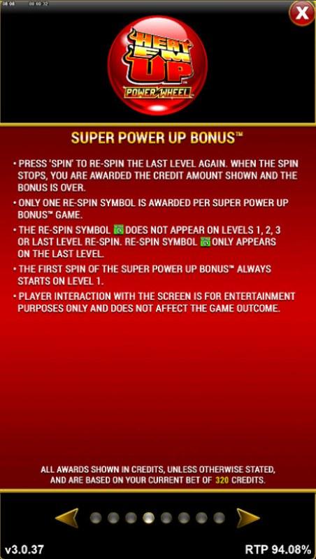 Heat 'Em Up Power Wheel :: Feature Rules