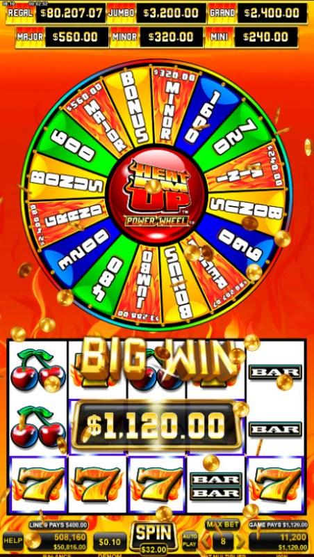 Heat 'Em Up Power Wheel :: Big Win
