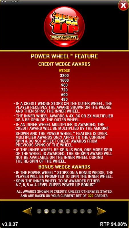 Heat 'Em Up Power Wheel :: Credit Wedge Awards
