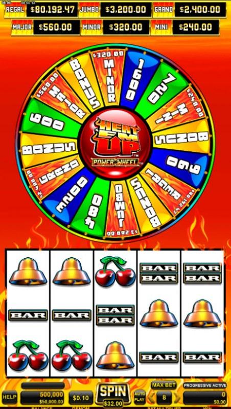 Heat 'Em Up Power Wheel :: Base Game Screen