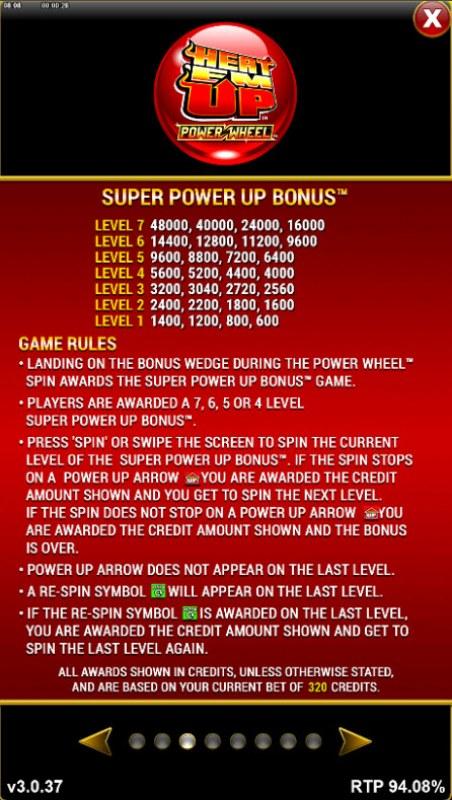 Heat 'Em Up Power Wheel :: Super Power Up Bonus