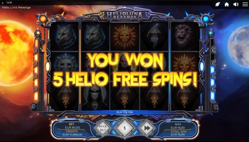 Helio Luna Revenge :: 5 free spins awarded