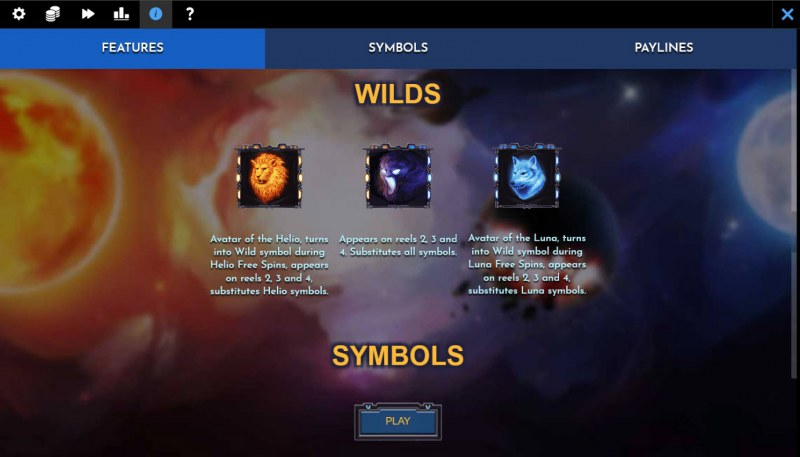 Helio Luna Revenge :: Wild Symbol Rules