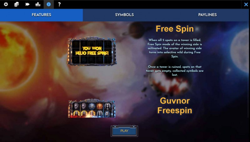 Helio Luna Revenge :: Free Spin Feature Rules