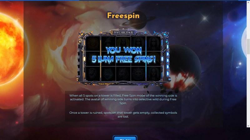 Helio Luna :: Free Spins Rules