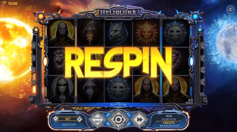 Helio Luna :: High value symbol wins triggers a respin