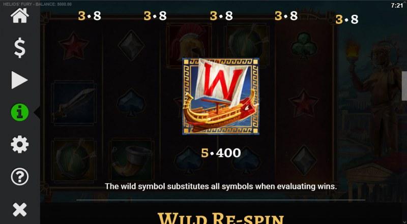Helios' Fury :: Wild Symbol Rules