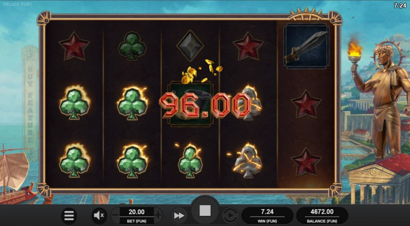 Helios' Fury :: Multiple winning combinations