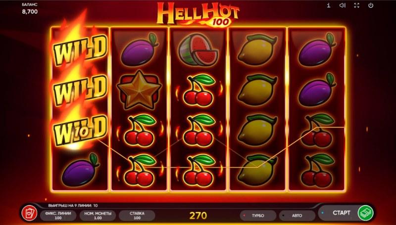 Hell Hot 100 :: Multiple winning paylines