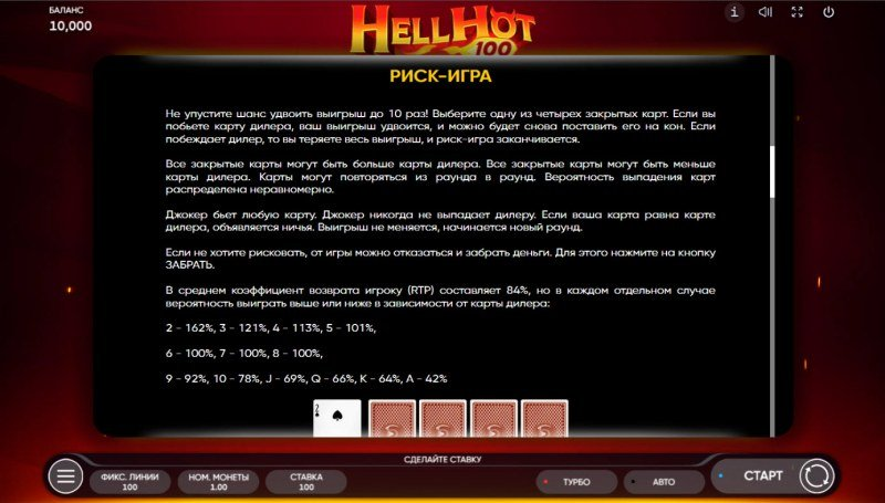 Hell Hot 100 :: Gamble feature