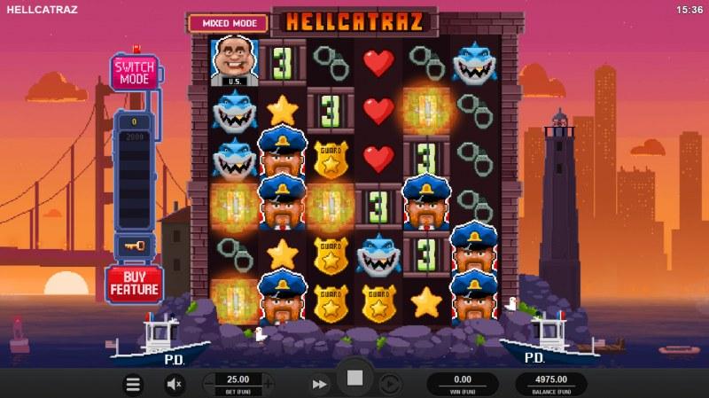 Hellcatraz :: Mystery symbols change into new symbols once they count down to zero