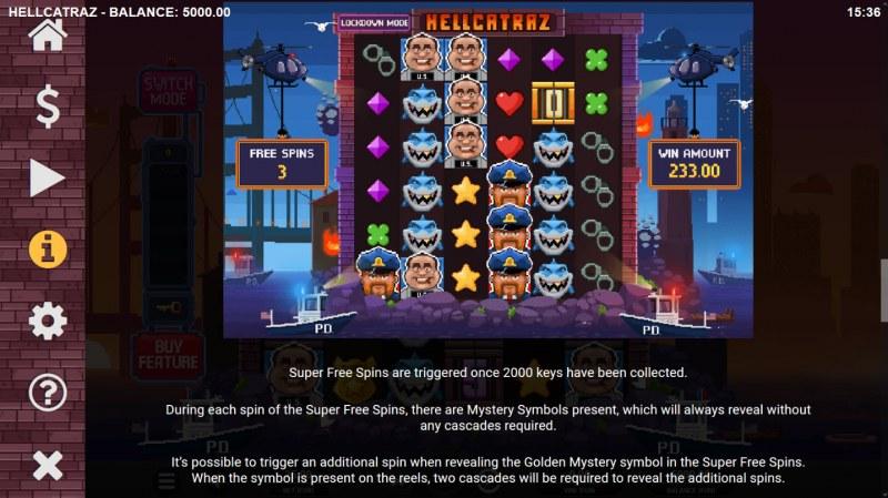 Hellcatraz :: Free Spins Rules