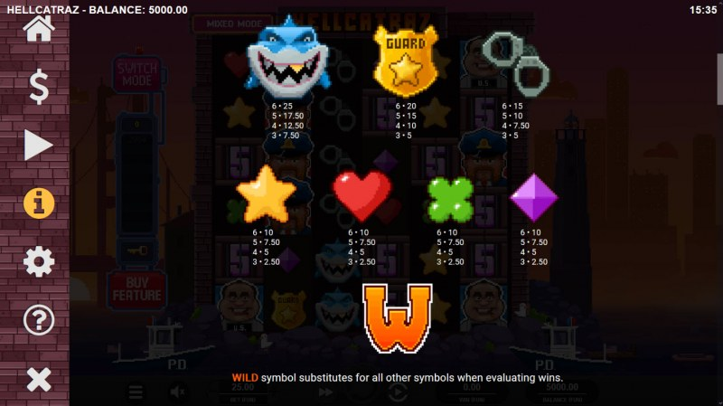 Hellcatraz :: Paytable - Low Value Symbols