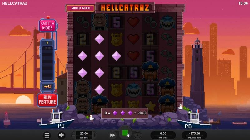 Hellcatraz :: Multiple winning combinations