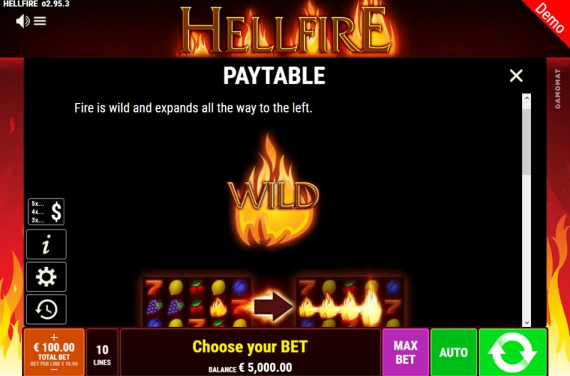 Hellfire :: Wild Symbol Rules
