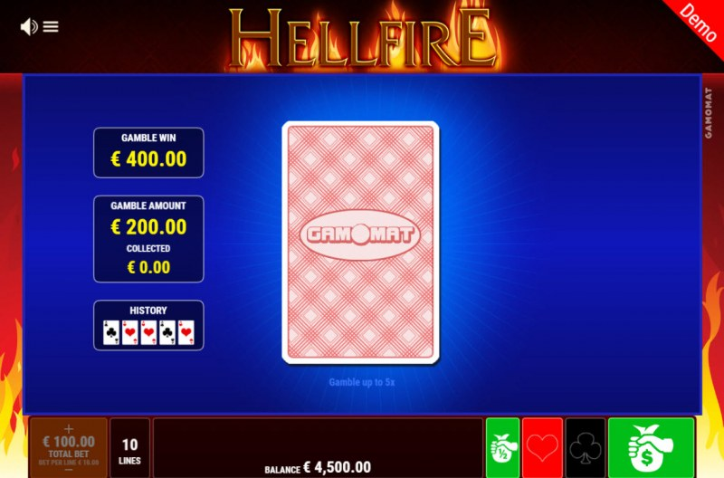Hellfire :: Red or Black Gamble Feature