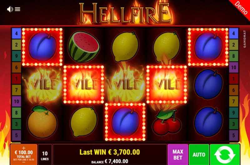 Hellfire :: Multiple winning combinations lead to a big win