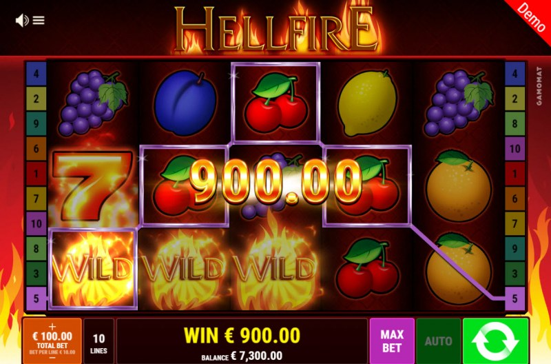 Hellfire :: Multiple winning paylines