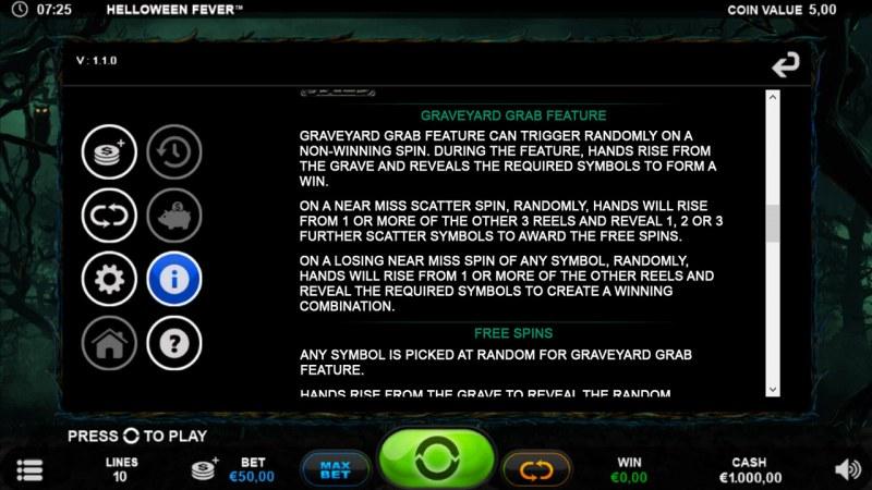 Helloween Fever :: Graveyard Grab Feature