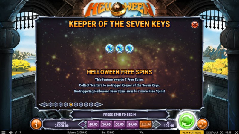 Helloween :: Free Spins Rules