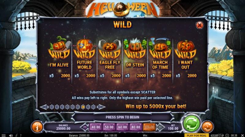 Helloween :: Wild Symbols Rules