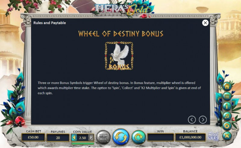 Hera's Gold :: Bonus Game Rules