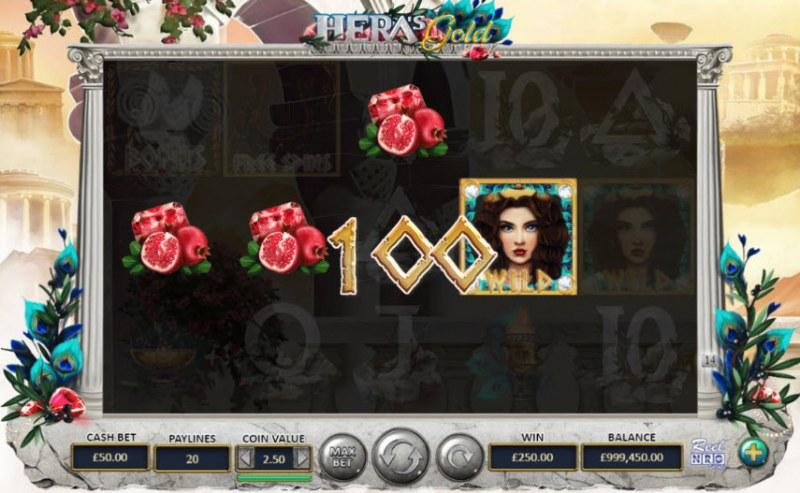 Hera's Gold :: Cascade Win