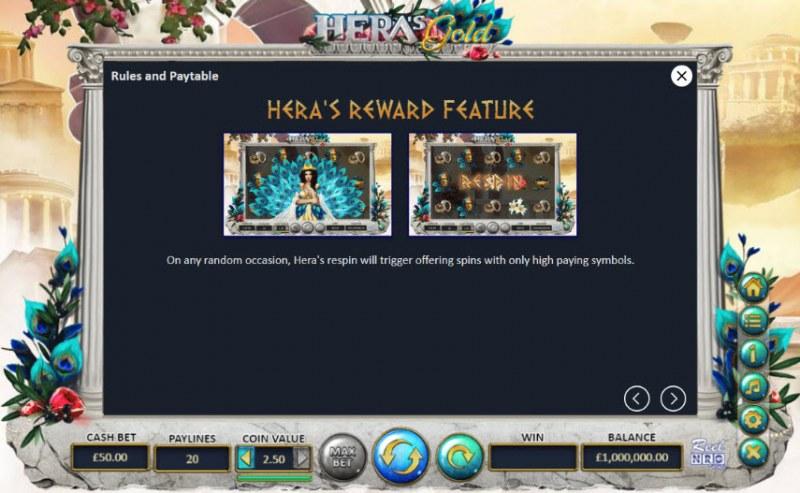 Hera's Gold :: Hera's Reward Feature