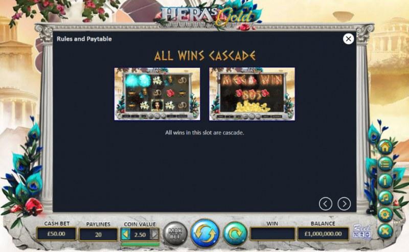 Hera's Gold :: All Wins Cascade