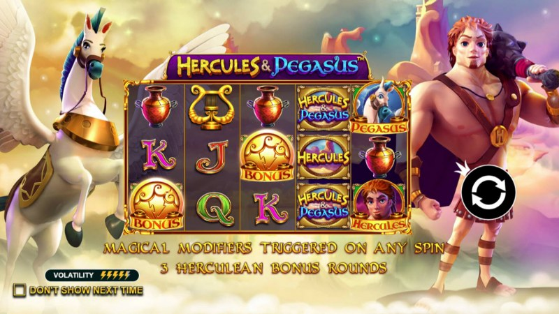 Play slots at Campeon: Campeon featuring the Video Slots Hercules & Pegasus with a maximum payout of $250,000