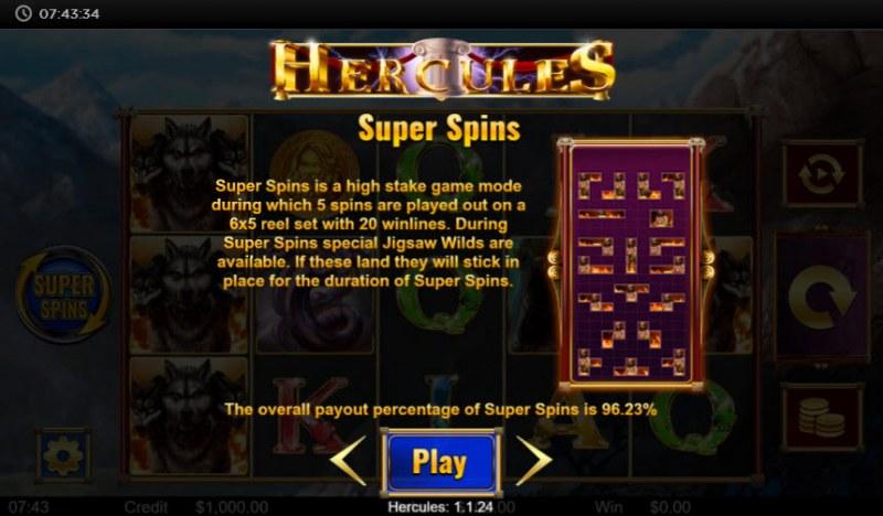 Hercules :: Super Spins
