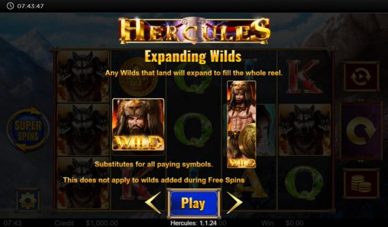 Hercules :: Expanding Wild Feature