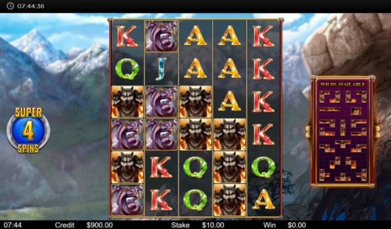 Hercules :: Super Spins Game Screen